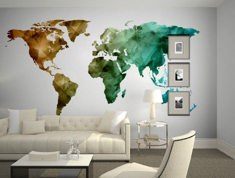 Custom 3d mural wallpaper custom 3D World map style wallpaper living room study bedroom corridor restaurant wallpaper mural free shipping 3d rockery pool plant floral bedroom living room toilet hotel restaurant floor painting wallpaper mural