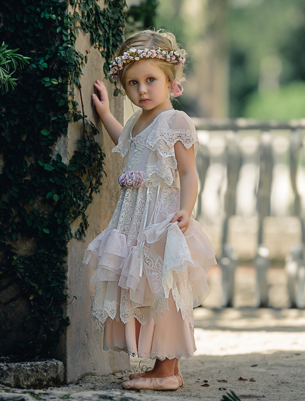 Cute Satin Tulle A-Line Flower Girl Dress V-Neck Short Sleeves Mid-Calf Tiered Girl Pageant Dress For Christmas Birthday Party cute short sleeve organza design beaded a line dress for girl