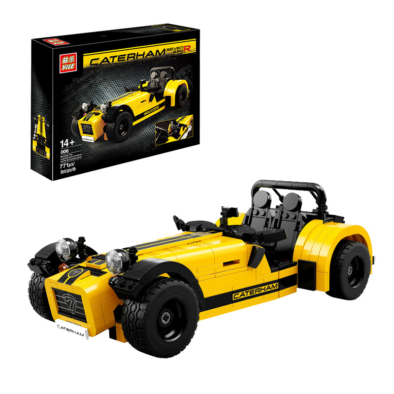 YILE 006 Compatible Race CATERHAM SEVEN 620R 21307 Building Blocks Classic Sport Car Model Educational Toys For Children