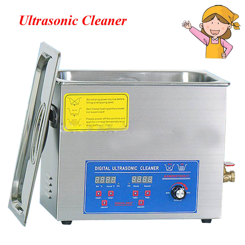 1pc Popular Adjustable Cleaning Machine Power 70-80W Ultrasonic Cleaner 6.5L Home Equipment with Free Bath Cleaners PS-30AL free dhl 1pc digital ultrasonic cleaner for industry specific cleaning with degas function with dual frequency power gt 1730qts