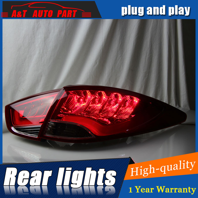 Car Styling for Hyundai IX35 Taillights 2010-2013 New Tuscon LED Tail Lamp Rear Lamp DRL+Brake+Park+Signal led lights akd car styling for hyundai santa fe led tail lights 2007 2013 new santa tail light rear lamp drl brake park signal