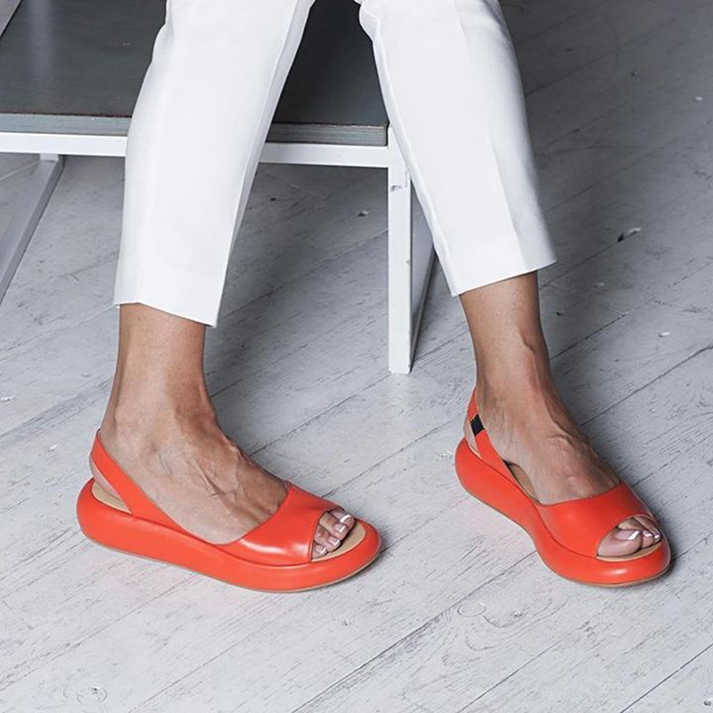 Summer Women Sandals Fish Mouth Elegant Ladies Shoes Slip On Solid Female Single Shoes Casual Soft