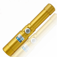 Strong Focusable High Power blue Laser Pointer 450nm Laser Flashlight With Safty Keys Rechargeable burn Wood Cigarettes