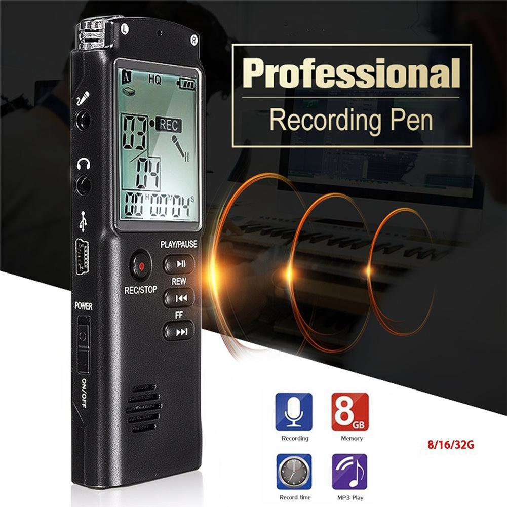 Перезаряжаемый Цифровой диктофон REC записывающая ручка с всенаправленным конденсаторный микрофон Подсветка ЖК-экран VAR VOR