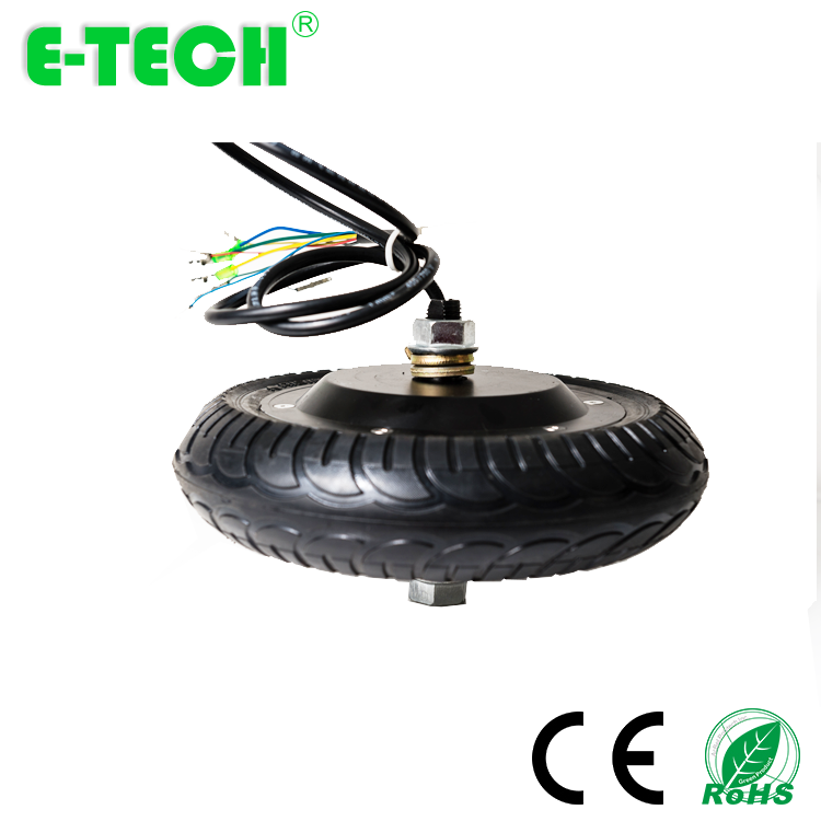 CE approved 8 inch <font><b>DC</b></font> <font><b>brushless</b></font> gearless 24v 36V 48V <font><b>350W</b></font> 400W electric hub <font><b>motor</b></font> wheel for robotics image