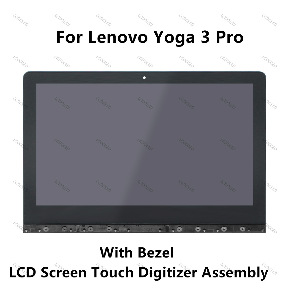 13.3LED LCD Display+Touchscreen Assembly Digitizer+Frame LTN133YL03 For Lenovo Yoga 3 Pro 1370 80HE00DJRK 5D10G97569 3200*1800