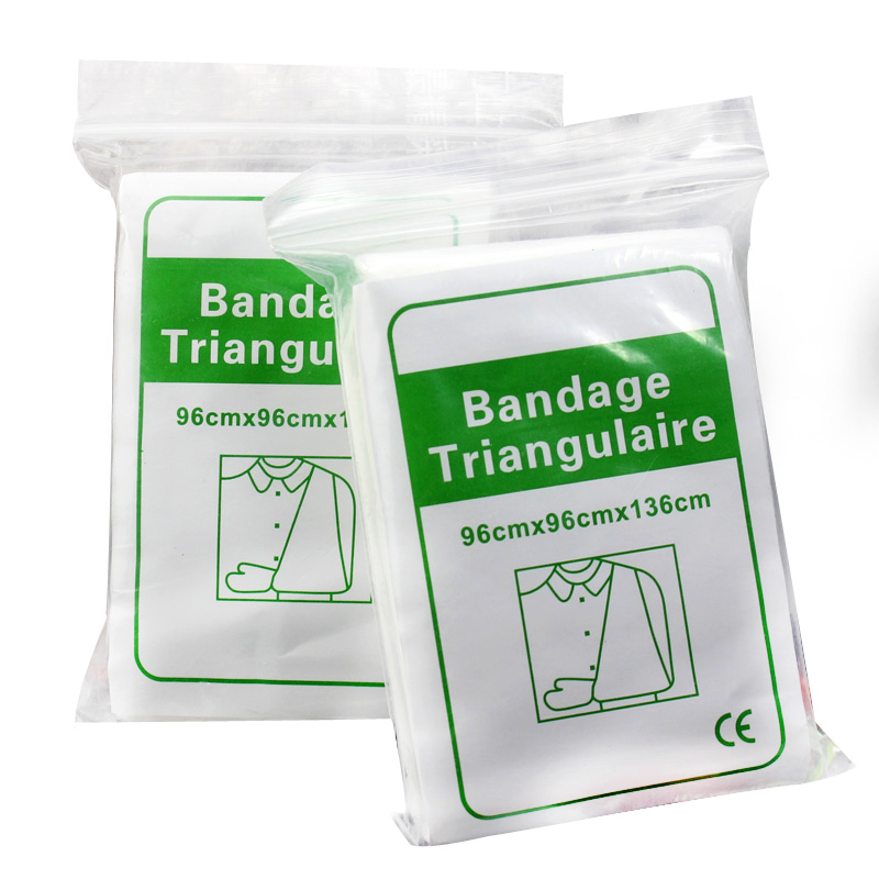 5packs/lot Medical Non-Woven Gauze Pad Sterile Triangular Bandage First Aid Wrap Wound Dressing Emergency Kit Accessories