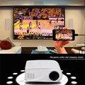 Plástico más nuevo Full HD 1080 P de Vídeo X6 Portátil de 80 Lúmenes Mini LED HDMI/AV/VGA/SD/USB de Cine En Casa Proyector Multimedia Proyector