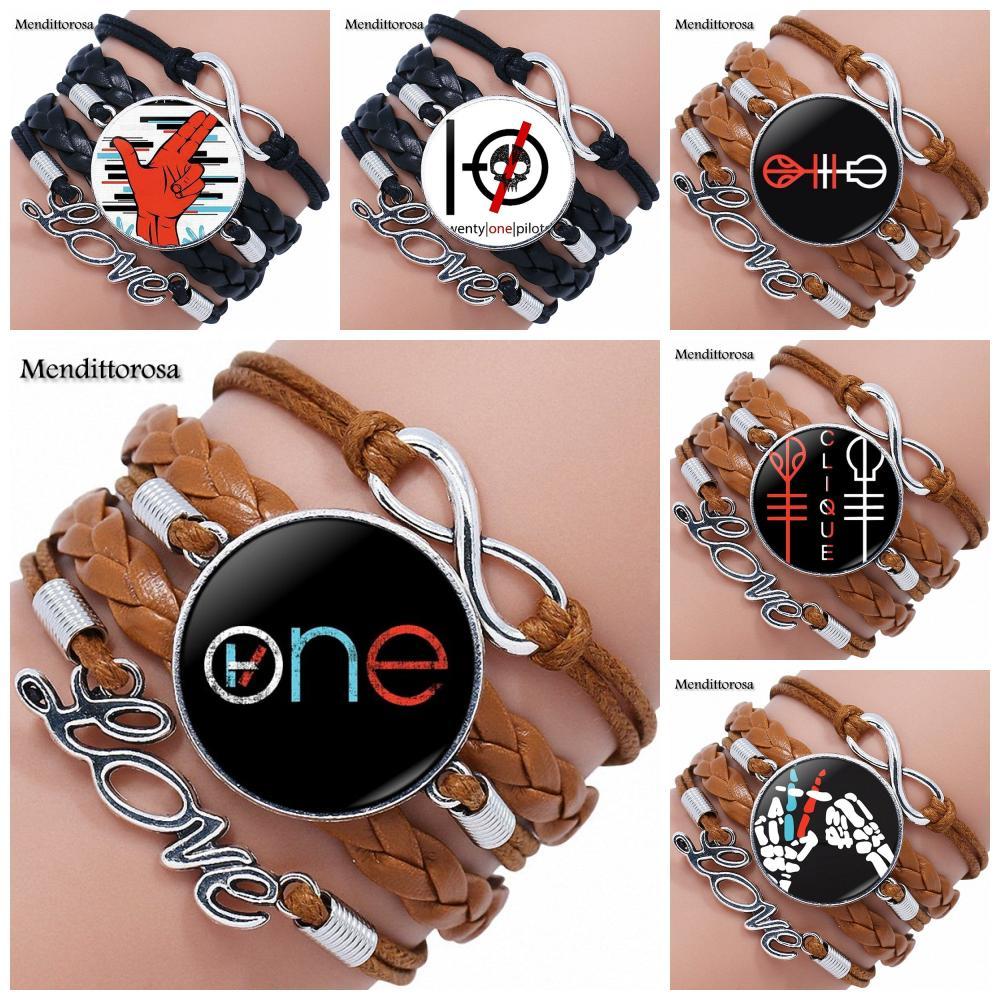 Ej Glaze Vintage Glass Cabochon Jewelry With Black Leather Bracelet Bangle For Women Men Fashion Star Exo Charm Bracelets