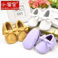 Bow Bow Tassel Shoes Shoes Before The PU Baby Shoes Hot Selling Baby Shoes