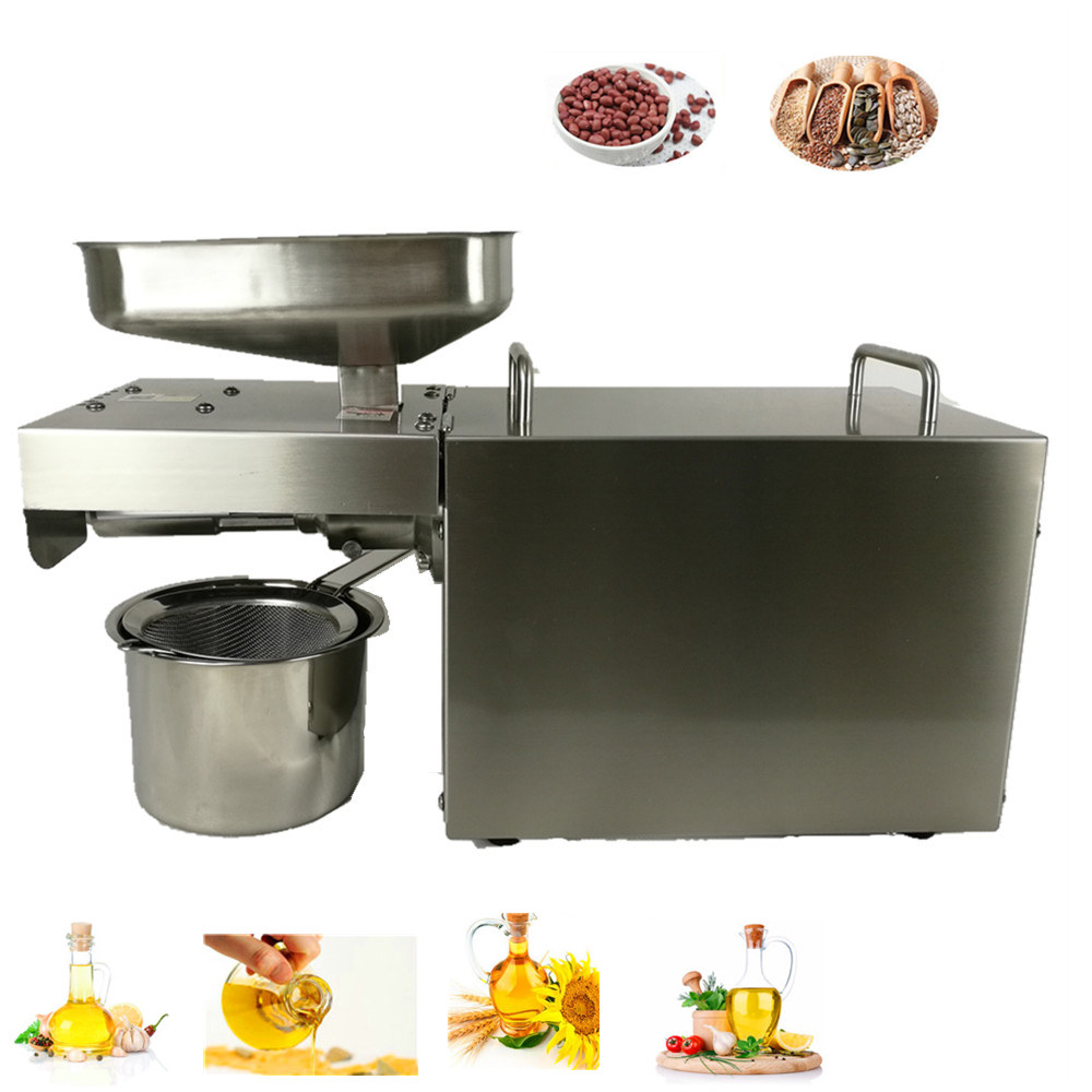Mini household Oil Press Machine seeds Peanut Oil Presser maker automatic stainless steel electric Oil Expeller Extractor 220V cukyi household electric multi function cooker 220v stainless steel colorful stew cook steam machine 5 in 1