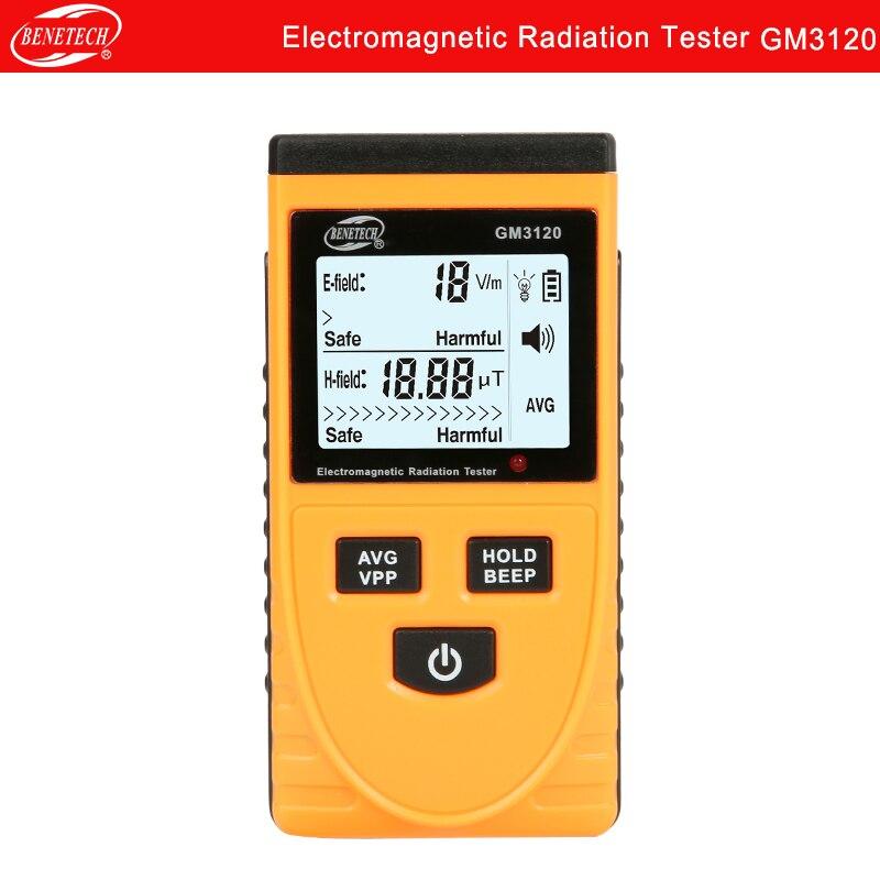 Detector de Radiação Testador de Radiação Eletromagnética Digital Portátil Benetech Gm3120