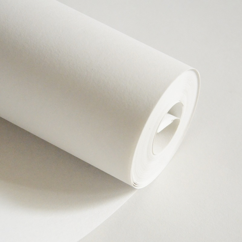 beibehang Nordic high grade pure white wallpaper without pattern pure pigment color thick non woven snow