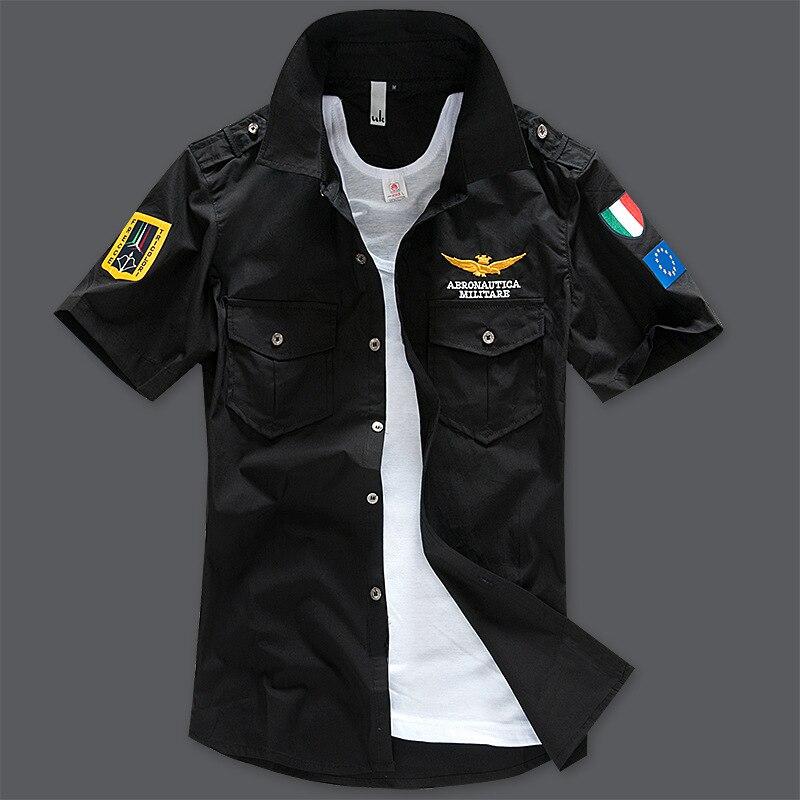 XL-8XL Plus Size Italy Brand Shirts Men Summer Style Fitness Cotton Black Shirt (XL XXL XXXL 4XL 5XL 6XL 7XL 8XL)