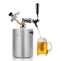 Stainless Steel Beer Mini Keg Mini Air Pressure Faucet Can Wine Brewing Tools Bottle Kitchen Accessories