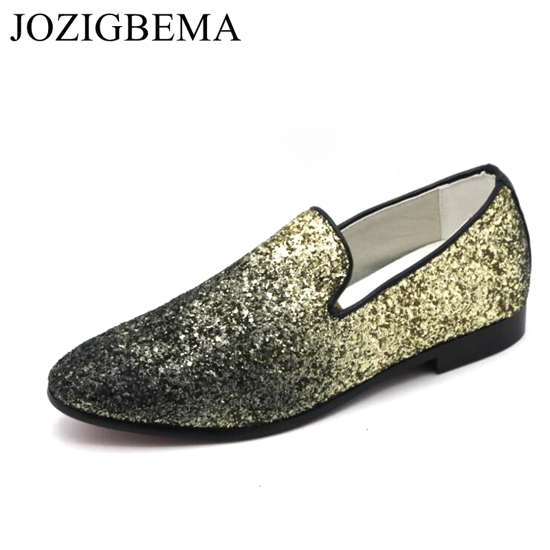 Mocassins Chaussures Conduite Robe Rond Or Hommes argent rouge Paillettes Zapatillas Cuir Loubuten En Glitter Bout Casual Appartements Low Superstar Top Xa7RnqwB