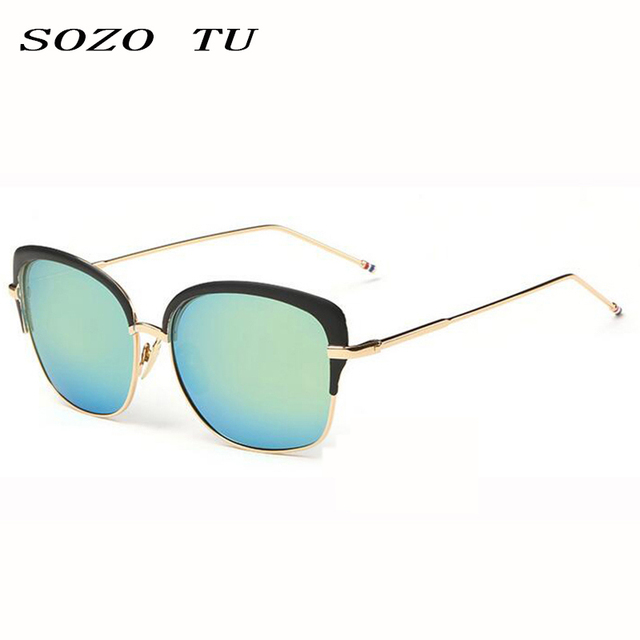 6116a6fa6b SOZOTU oculos cheap plastic sunglasses Black Frame Blue Women Sunglasses  gatos cheap plastic sunglasses