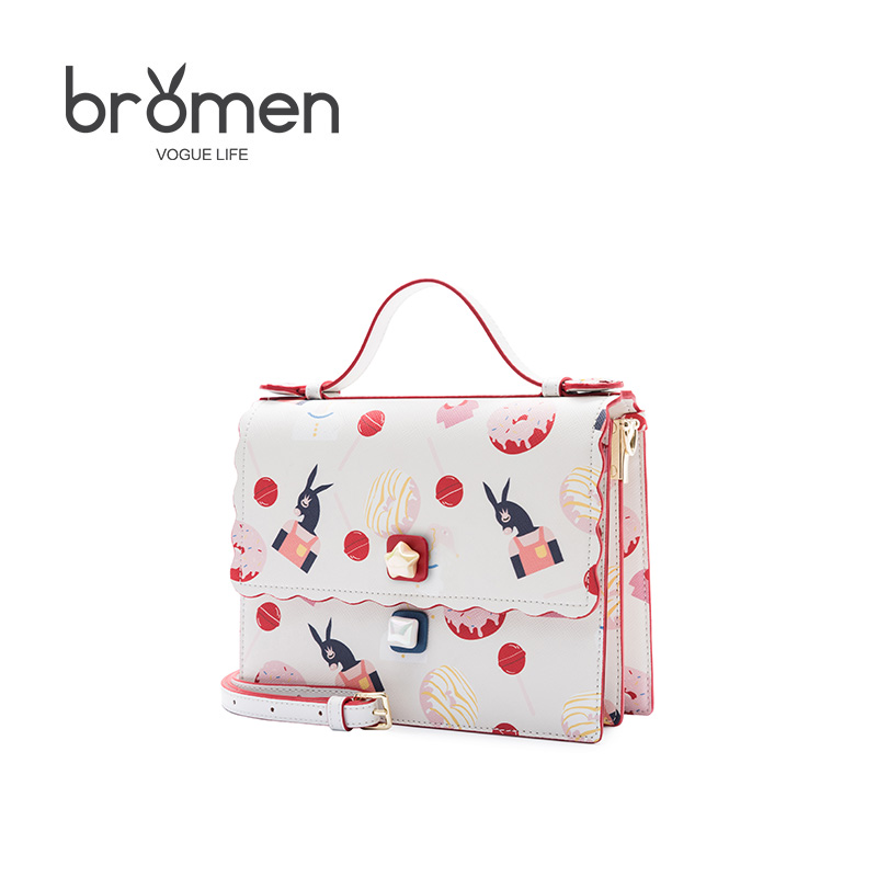 BROMEN Crossbody Bags for Women Leather Handbags Sweet Embroidery Shoulder Bags Famous Brand Bolso Mujer Flap Ladies Hand Bag feral cat famous designer brand small woman bag clutch pvc crossbody bags for women ladies hand bags mother dumpling bolso mujer