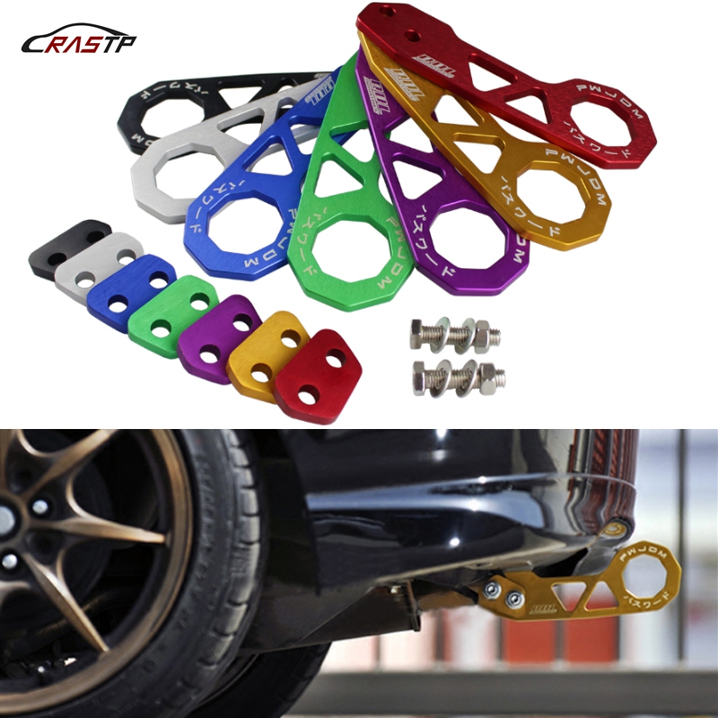 RASTP  Free Shipping JDM Style Racing Rear Tow Hook Aluminum Alloy Rear Tow Hook For Honda Civic RS TH004-in Towing Bars from Automobiles & Motorcycles
