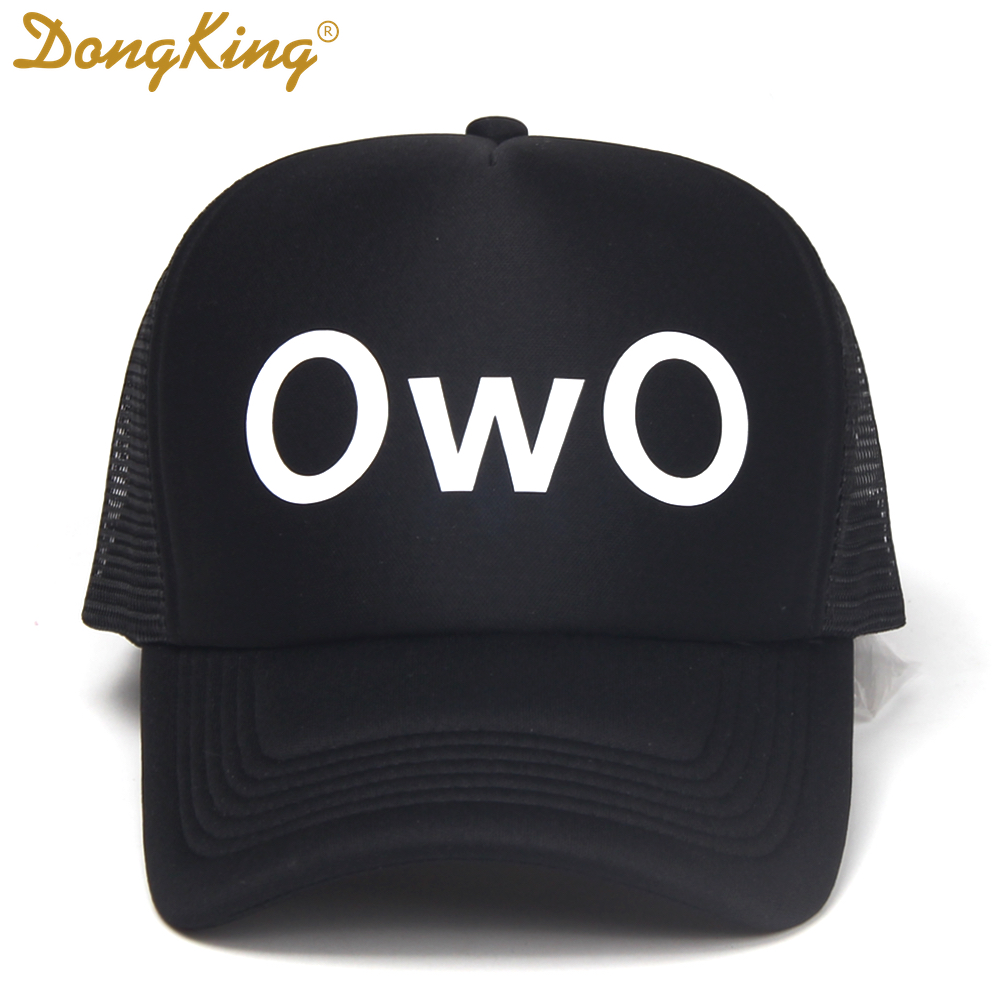 DongKing Fashion Trucker OwO Print Mesh   Baseball     Cap   Adult Unisex Trucker Hats Snapback   Baseball     Cap