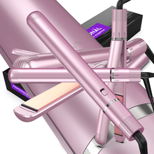 Professional Hair Straightener, Flat Iron for Hair Styling 2 in 1 Tourmaline Ceramic Flat Iron for All Hair Types with Rotating
