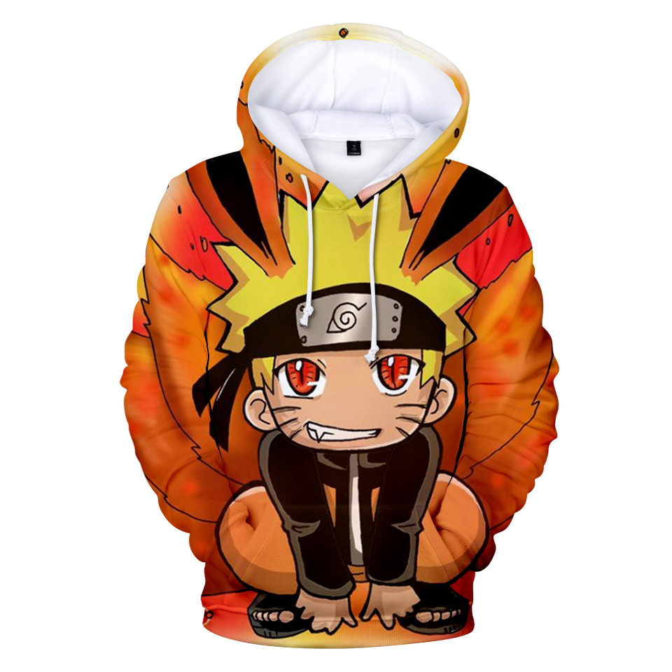NEW Naruto Hoodie Coat Puiiover Sweatshirts Kakashi Sasuke 3D Hoodies Pullovers Men Women Long Sleeve Outerwear Hoodie A