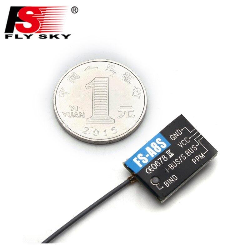 En Stock Flysky FS-A8S 2.4g 8CH Mini Récepteur avec PPM je-BUS SBUS Pour RC Qaudcopter FPV Racing drone Compatible FS i6 FS i6S