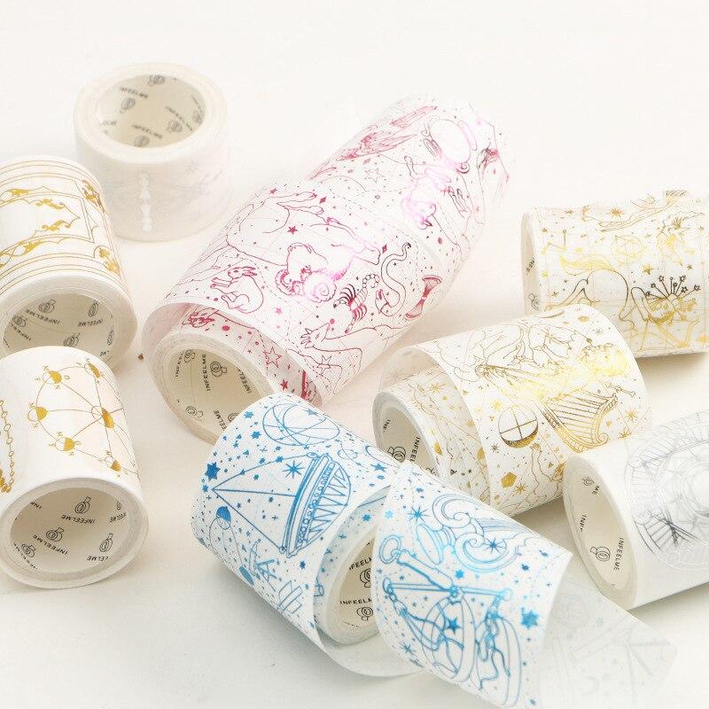 Look Up Starry Sky Gilding Decorative Washi Tape DIY Scrapbooking Masking Tape School Office Supply Escolar Papelaria