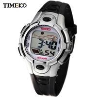 Famous Brand Time100 Kids Cartoon LCD Cold Light Multifunction Silver Strap Waterproof Outdoor Sport Digital Watch