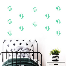 Fashion cactus Wall Sticker Home Decoration Accessories Removable Decor Decals Kids Room Stickers naklejki