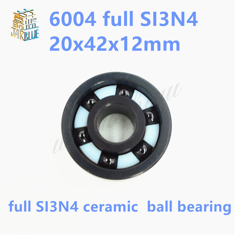 Free shipping high quality 6004-2RS full SI3N4 P5 ABEC5 ceramic deep groove ball bearing 20x42x12mm 6004 2RS 20mm bearings 6004 full ceramic si3n4 20mmx42mmx12mm full si3n4 ceramic ball bearing
