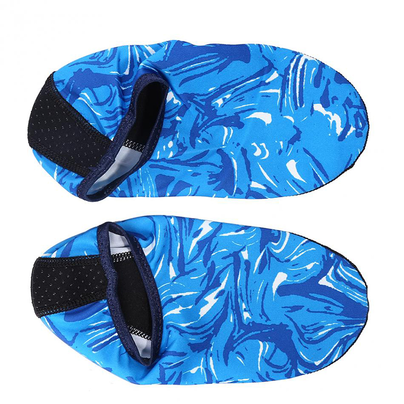 Swimming Fins Water Sports Beach Shoes Non-slip Quick Dry Diving Socks Summer Camouflage Diving Surfing Shoes For Adult Children
