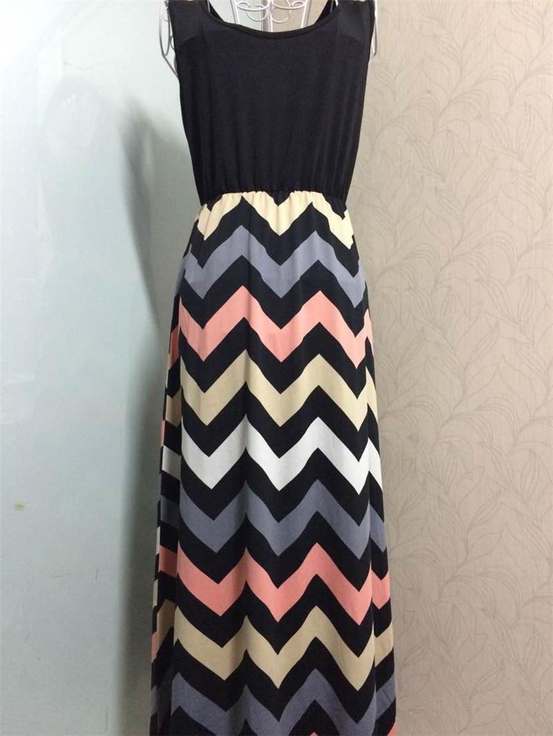 Women Summer Beach Boho Maxi Dress 2018 High Quality Brand Striped Print Long Dresses Feminine Plus Size 5