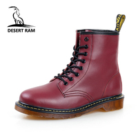 DESERT RAM Brand Men's Boots Dr. Martens Leather Winter Warm Shoes Motorcycle Mens Ankle Boot Doc Martins Fur Men Oxfords Shoe