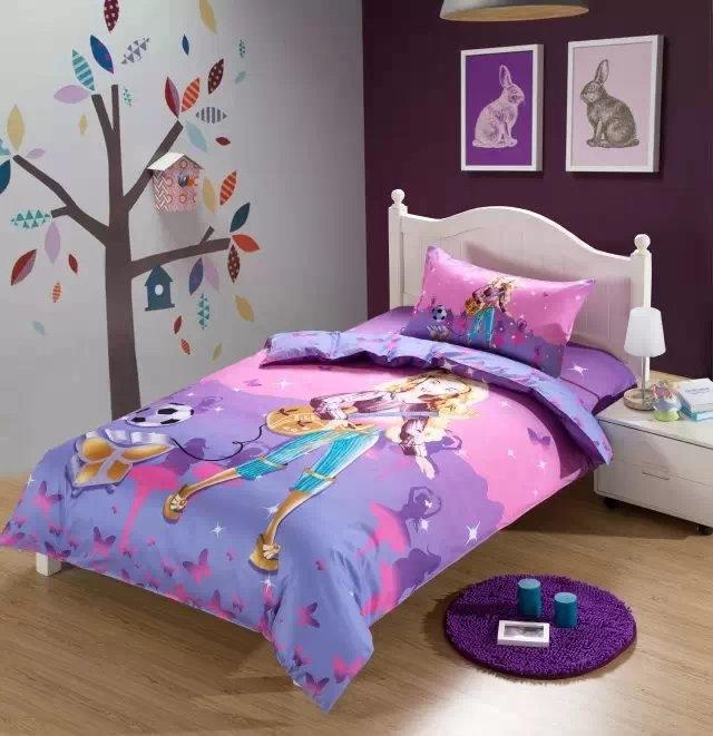 music guitar girl comforter bedding set single twin size bed duvet covers bedspread cotton. Black Bedroom Furniture Sets. Home Design Ideas