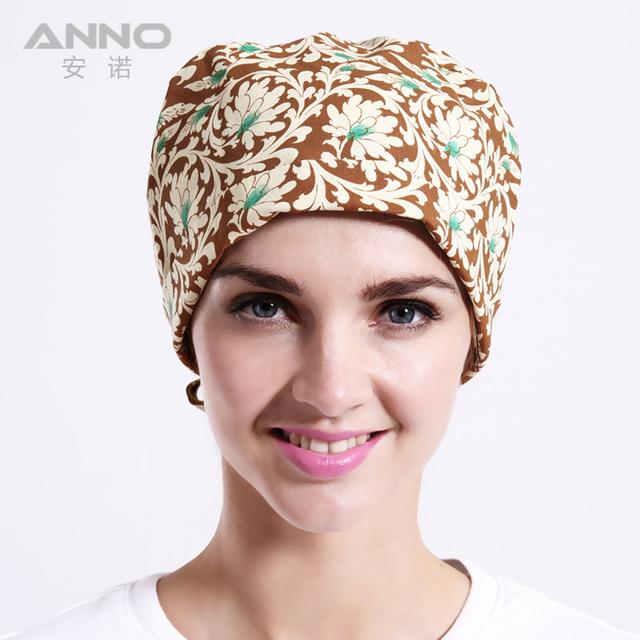 Flor de peonía Calabaza cap scrub sombreros unisex sombreros adecuados para pelo largo y corto con enfermeras quirúrgicas sombreros cap