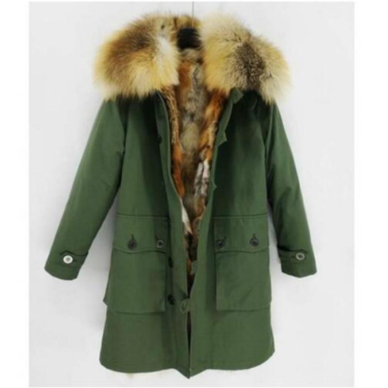 Hiver 1 Longue New De Mode 4 Chaud Fourrure Naturel 3 Luxe Streetwear 2018 Renard Manteau Réel color color Veste Femmes Doublure 2 Épais Color color zU4qUxAwZ