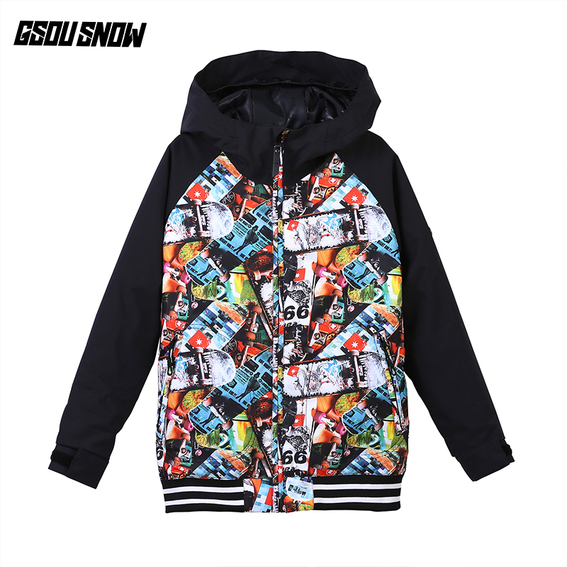 2018 Gsou Snow Boys Ski Jacket Snowboard Jacket Windproof Waterproof Outdoor Sport Wear Skiing Kids Clothing Children Thermal 2018 gsou snow men ski jacket snowboard clothing windproof waterproof thermal breathable male clothing outdoor sport wear winter