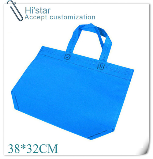 38*32cm 20pcs/lot Reusable Recycle Grocery Supermarket Shopping Mall Carrier Non Woven Bags Customized LOGO Available
