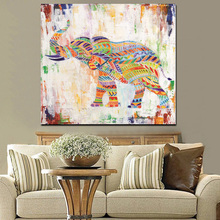 HD Print Watercolor Zebra Elephant Abstract Painting on Canvas Animal Pop Art Modern Cuadros Decor Wall Picture For Living Room