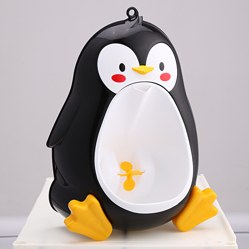 Cartoon Penguin Urinal Potty for Boys Hanging on The Wall Baby Night Urinals Potties Baby Toilet Trainer Seat Portable Potties penguin style baby potty toilet trainer