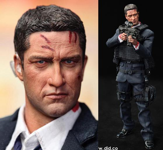 1/6  Super flexible figure US Secret Service Special Agent injured MARK London Has Fallen 12 action figure doll model toy