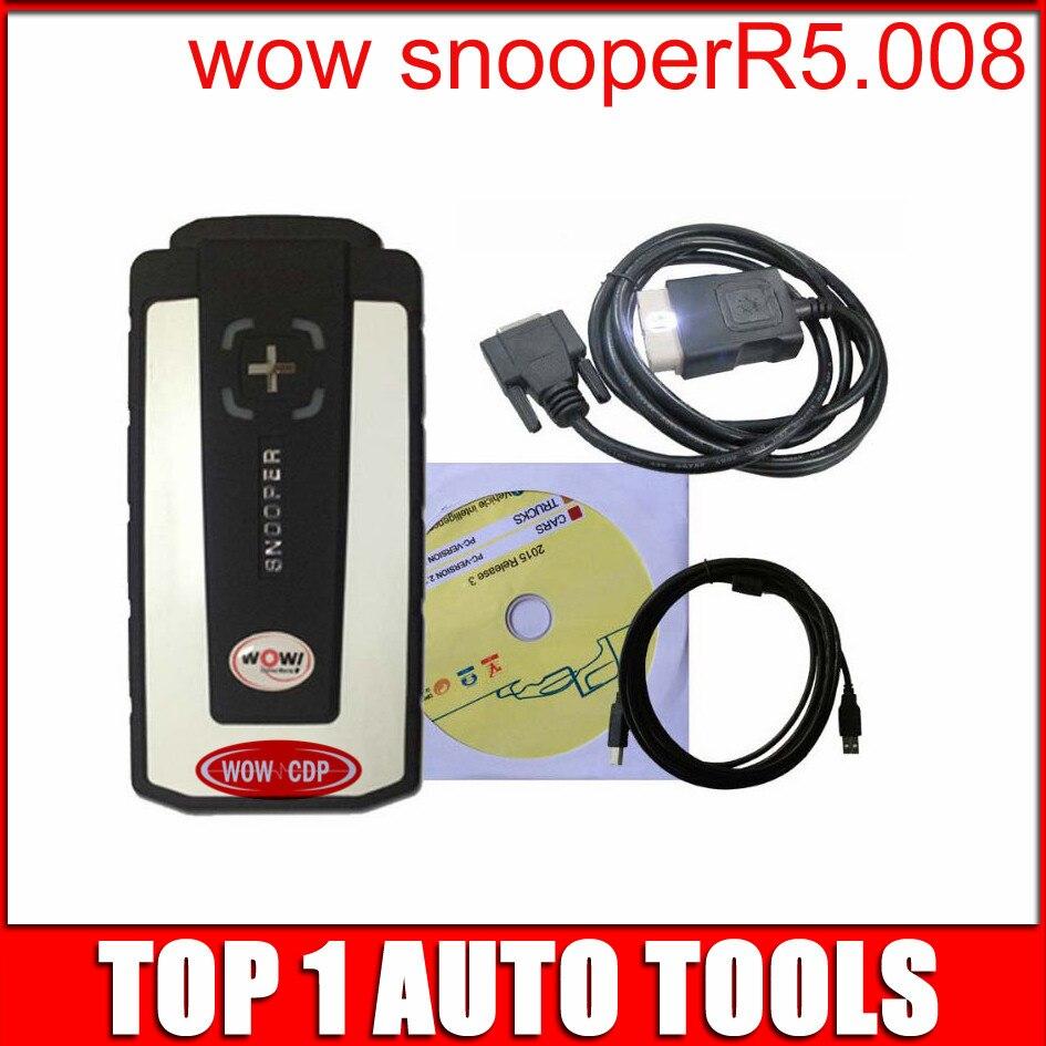 Prix pour Livraison gratuite wow snooper avec keygen! V5.008R2 logiciel avec plus langue WOW CDP pro pour voitures camions Multimarques Véhicules