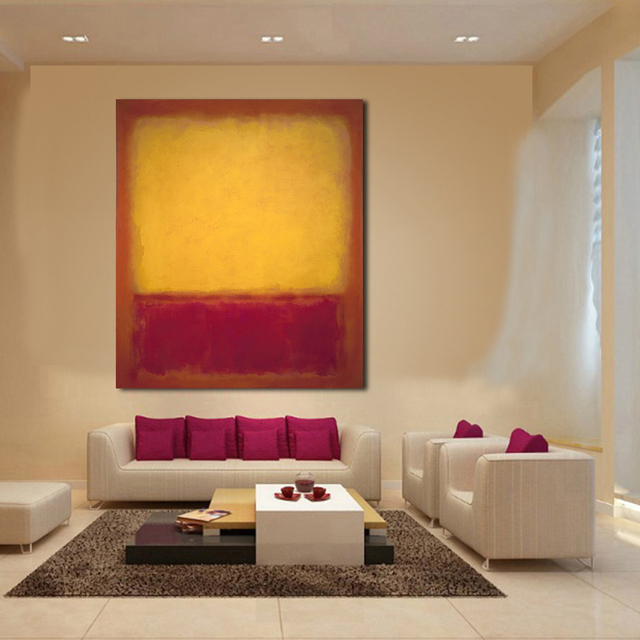 Jqhyart Mark Rothko Clical Oil Painting Wall Art Picture Home Decor Canvas Print Living Room Modern