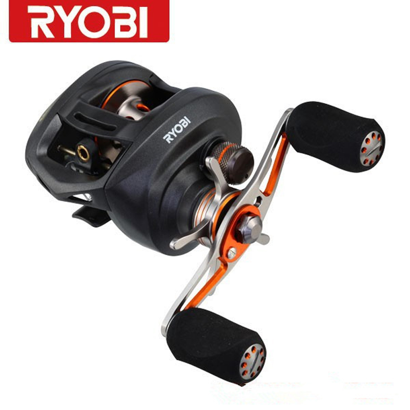 RYOBI round baitcasting fishing reels PLUMA gear ratio7.1:1/10+1BB right left handle molinete peche carretilha para pesca free shipping by ems fishing reels baitcasting reel daiwa megaforce ths gear ratio 7 3 1 six ball bearings right