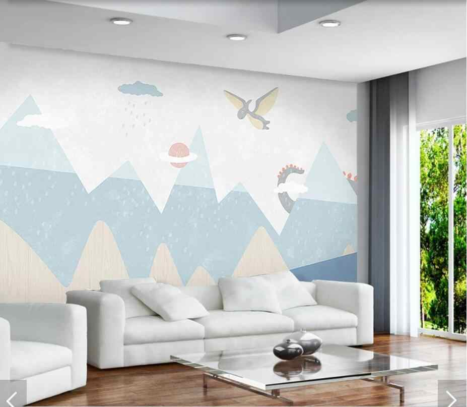 Hand Painting Carton Dinosaur Wallpaper Mural Kids Bedroom Wall Papers Roll Home Wall Decor Wall Murals Decals 3d Wall Paper Wallpapers Aliexpress