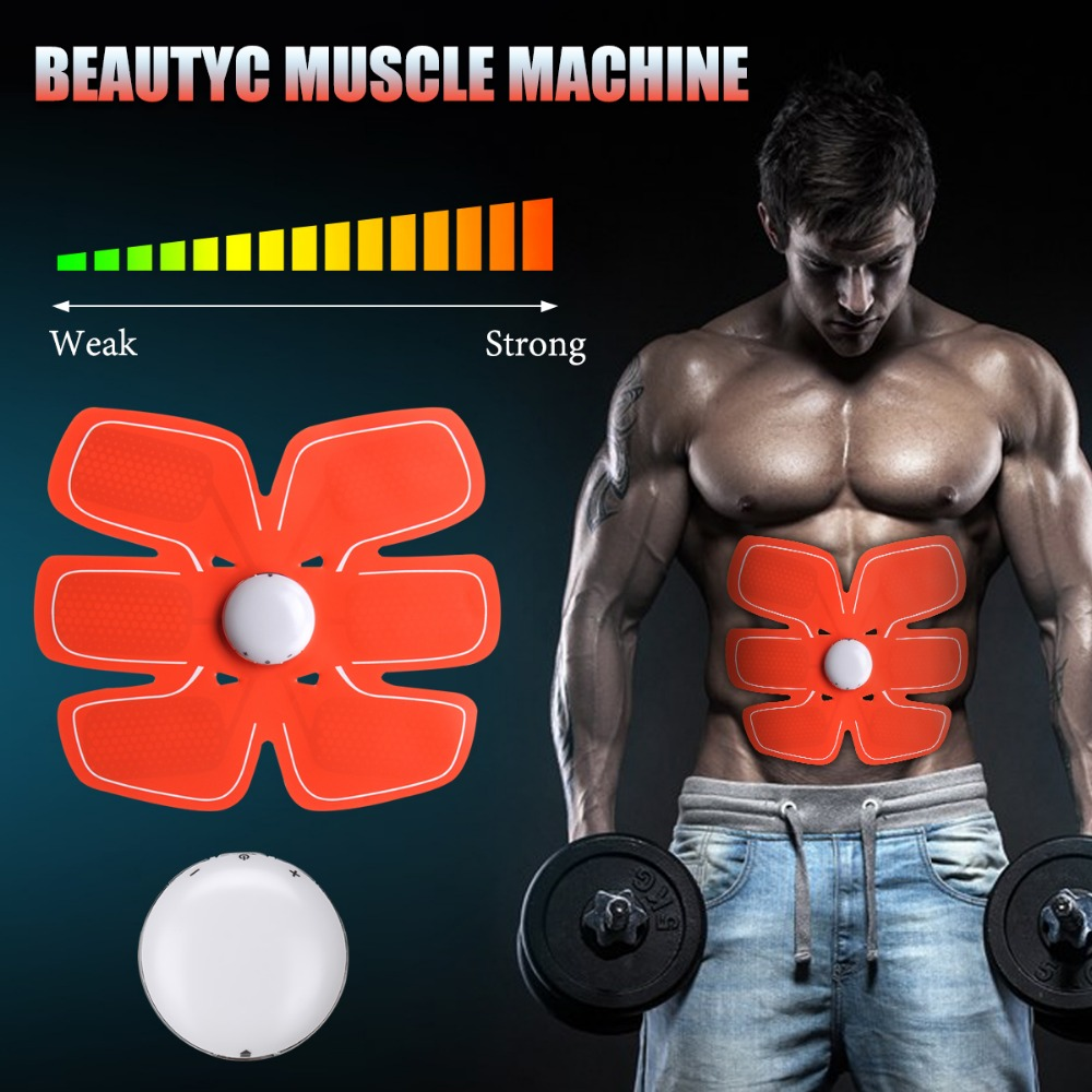 Wireless Muscle Stimulator EMS Stimulation Body Slimming Beauty Machine Abdominal Muscle Exerciser Training Device Body Massager new rechargeable electric muscle stimulator ems body slimming abdominal muscles training machine body toning arm waist massager