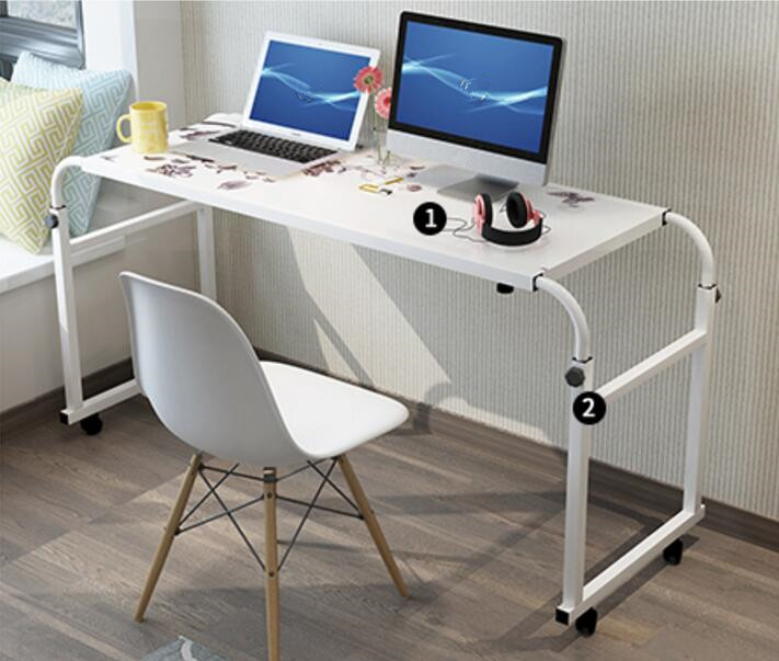 120*45CM Portable Bedside Notebook Table Mutil-Purpose Rremovable Computer Desk Lazy Laptop Desk Children Study Desk With Wheels waterproof plastic enclosure case junction box 265mm x 185 mm x 115 mm l15