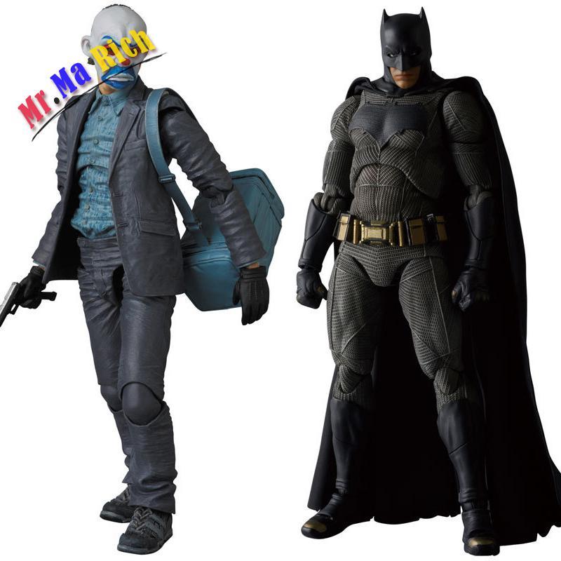 Mafex No. 015 E 017 Batman The Dark Night The Joker Azione Pvc Figure Da Collezione Model Toy 15 Cm