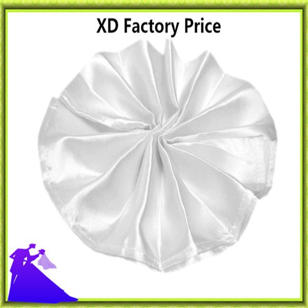 Nantong wholesale wedding satin table napkin free shipping